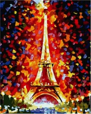 Paint by Numbers Kit 40x50cm with FRAME - Paris Eiffel Tower