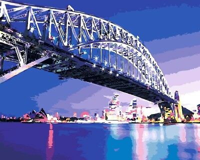 Paint by Numbers Kit 40x50cm with FRAME - Sydney Harbour Bridge