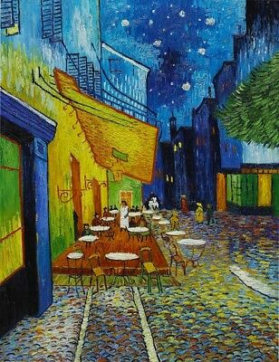 Paint by Numbers Kit 40x50cm with FRAME - Cafe Terrace at Night by Van Gogh
