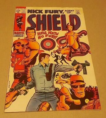 Nick Fury, Agent of SHIELD #12 (May 1969, Marvel) Barry Smith Art HYDRA