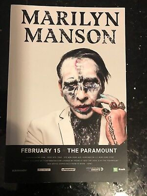 Marilyn Manson February 15, 2018 at  The Paramount in Huntington Long Island