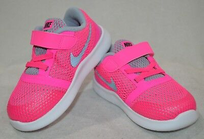 Nike Free RN (TDV) Pink/Silver Toddler Girl's Shoes-Size 5/