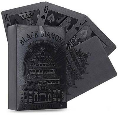 Black Diamond Playing Cards Deck Waterproof Poker Cards 54pcs new gift