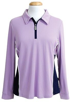 Ladies Coolamon Polo with Sports Collar UPF50+ Shell Pink Sun Protection