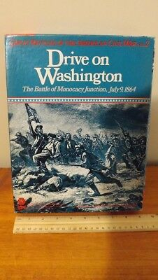 Spi - Drive On Washington Strategy Game 1980 Unpunched