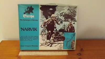 Gdw - Narvik - Europa The Campaign In Norway Military Strategy Game 1980