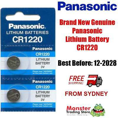 2pcs CR1220 3V LITHIUM BUTTON COIN BATTERY BRAND NEW GENUINE EXPIRES: 12/2028