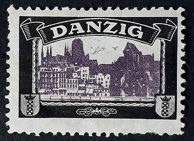 c. 1921 Danzig Lost Colonies Mourning Cinderella with City View Mint