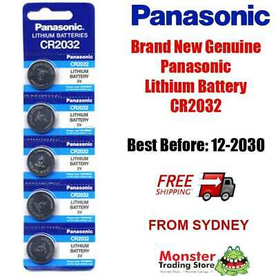 CR2032 3V 5 x LITHIUM BUTTON COIN BATTERY BRAND NEW GENUINE EXPIRES: 12/2028