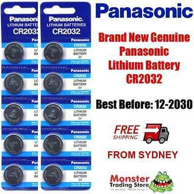 10pc CR2032 3V LITHIUM BUTTON BATTERY BRAND NEW GENUINE EXPIRES: 12/2028