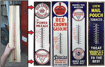 """Replacement 23"""" Thermometer Tube for 6ft Porcelain Sign Working w/ Wood Cradle"""