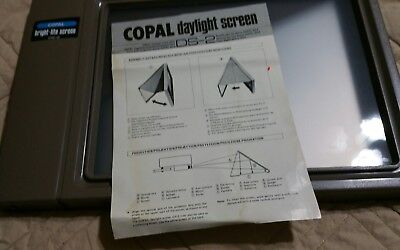 copal daylight screen ds-2 for movie and slide projectors vintage original box