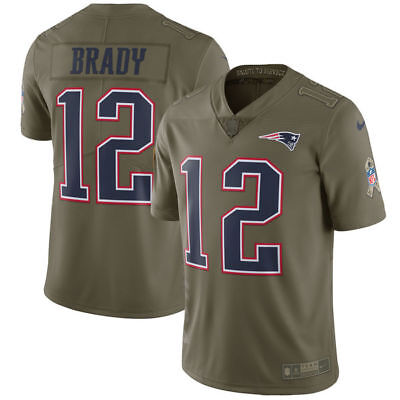 NEW Tom Brady #12 New England Patriots Salute To Service NFL jersey MEDIUM