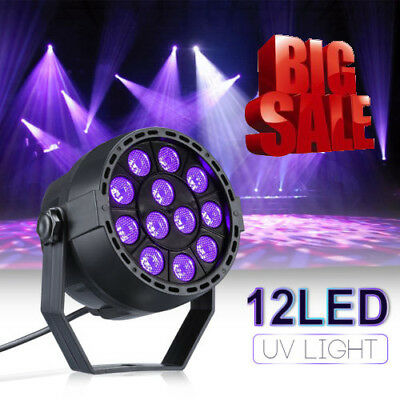12W 12 LEDs Stage Lights UV Controlled by DMX for Party club Disco Wall Washer