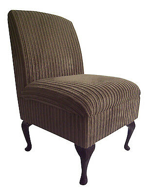 Bedroom Chair Camel Jumbo Cord Fabric On Queen Anne Style Legs