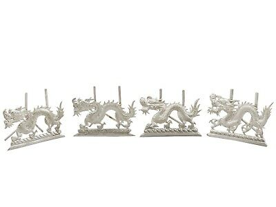 1890s Chinese Export Silver 'Dragon' Card/Menu Holders