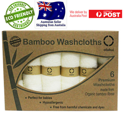 Organic Bamboo Washcloths Face Towel for Babies Sensitive Skin