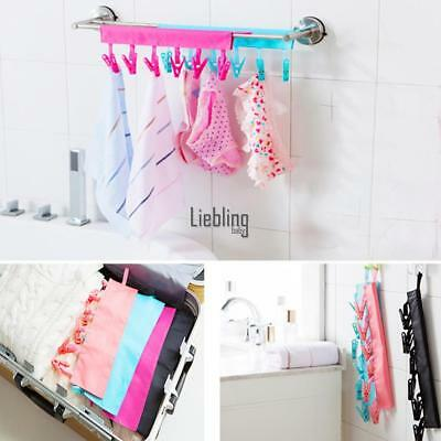 Folding Clothes Cloth Hanger Travel Portable Fabric Socks Towel Hanger LEBB