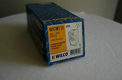 Wilco 15 Amp Outlet W/ Proof Wicm115 New