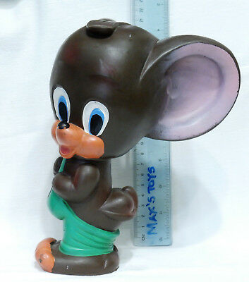 VINTAGE LARGE TOY JERRY MOUSE (Tom and Jerry) RUBBER EXTRA RARE His ass got out