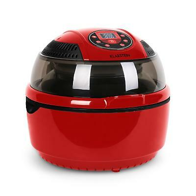 Air Fryer Halogen Oven Deep Bake Grill Infrared Timer 9 Litres 1400W Red Kitchen