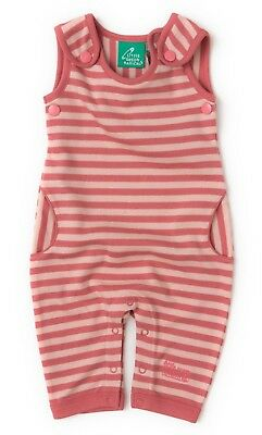 Sale! RRP £23. Sunset pink stripe dungarees. Girl. Little Green Radicals.