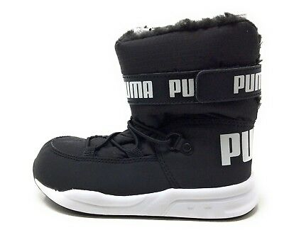 243ddd49e4565e PUMA KIDS TRINOMIC Winter Snow Boot Black   White Toddler Size 9C US ...