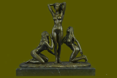 Hand Made Three Friends (bronze nude 3 Graces Girls Females Sculpture Statue