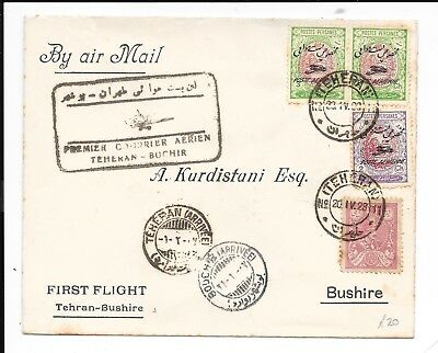 Middle East  - Bushire 1928 Airmail Cover
