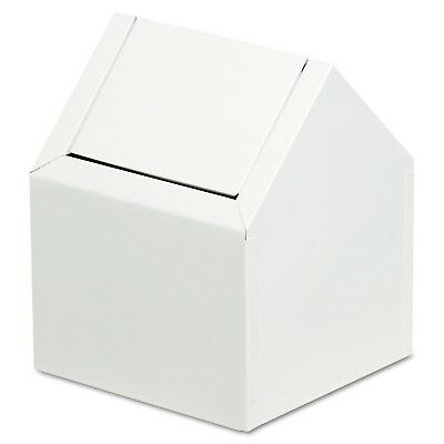 Feminine Hygiene Receptacle, Swing Double Entry, White, Metal Shell - MIPRO 2211