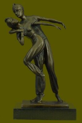 Hand Made Belly Dancers Musicians 100% Real Handcrafted Bronze Statue