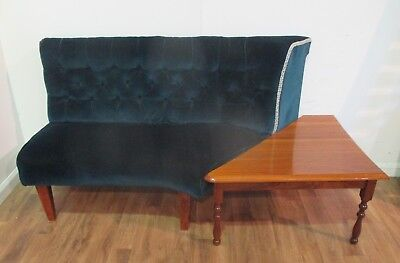Vintage Velvet Sofa with removable Coffee Table - Reviive Oswestry 132808