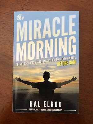 The Miracle Morning by Hal Elrod (2012, Paperback)