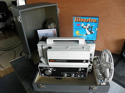 Eumig Mark S 810D Film Projector, For All 8Mm Sound, With Speaker, Case & Movie