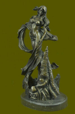 Hand Made Highly Detailed Goddess Bronze Sculpture Museum Quality