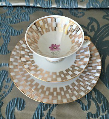 Vintage Bavaria Germany Tea-cup Saucer & Plate Setting