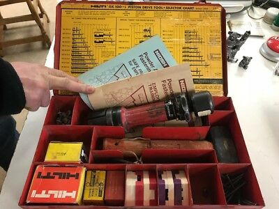 HILTI DX100L - Piston Drive - Single Shot Tool Kit - UNTESTED w/ power chargers