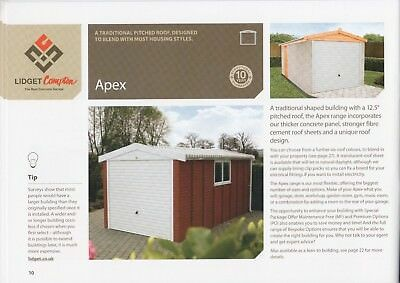 "Information On Concrete Sectional Garage,garages, 16Ft 3"" X 8Ft 6"" Apex Roof"