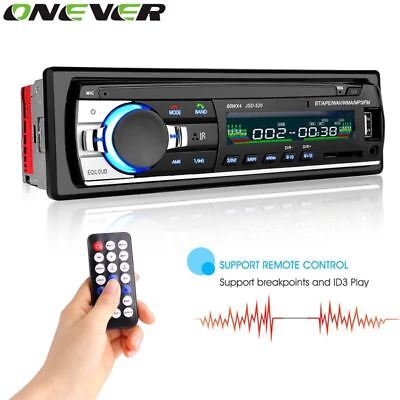 Onever Car Radio Stereo Player Bluetooth Phone AUX-IN MP3 FM/USB/1 Din/remote co