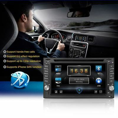 """6.2"""" HD 2DIN Bluetooth Car Stereo Receiver DVD Player Support iPhone Carplay Cas"""