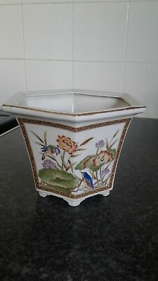 vintage Chinese or Japanese porcelain plant pot