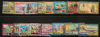 Malta Sg667/82 1981 Definitive's Mnh