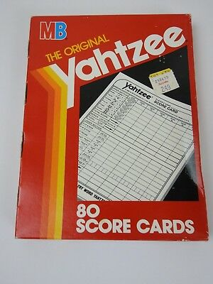 Yahtzee Score Cards Pads Sheets, 80 Count, for the Hasbro Game 06100 (B10)
