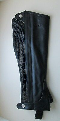 Shires Leather Half Chaps Gaiters  - Black -  Extra Large