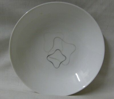 Mid-Century ROSENTHAL Linear Grey & Black Soup Bowl  7 14 in x 1 5/8 in (184mm)