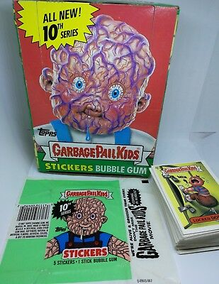 Garbage Pail Kids Original Series 10 Near Complete Box Wrapper Topps Card Lot