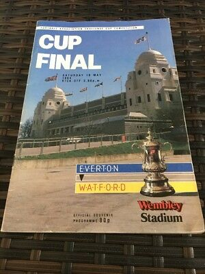 Everton V Watford FA CUP Final 19th May 1984