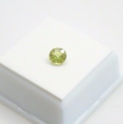 Sphene - 1.11ct - Oval - 6.27x6.17mm - Brazilian Chrome Green Sphene Gemstone
