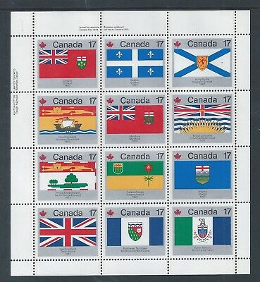 Canada Provincial & Territorial Flags #832a UL Full Pane MNH ** Free Shipping **