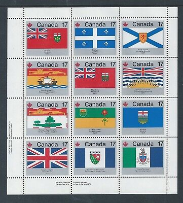 Canada Provincial & Territorial Flags #832a LL Full Pane MNH ** Free Shipping **
